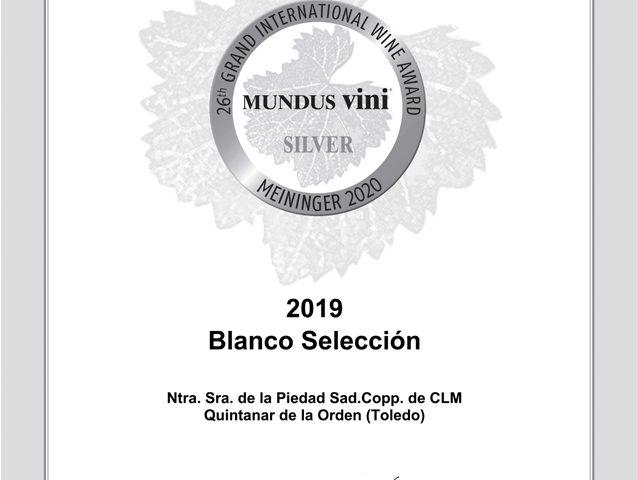 Blanco Selección 2019. Medalla de Plata. MUNDUS VINI cata de primavera 2020