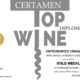 Entremontes Crianza 2017. Medalla de oro. Certamen TOPWINE 2021